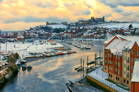Whitby in the snow